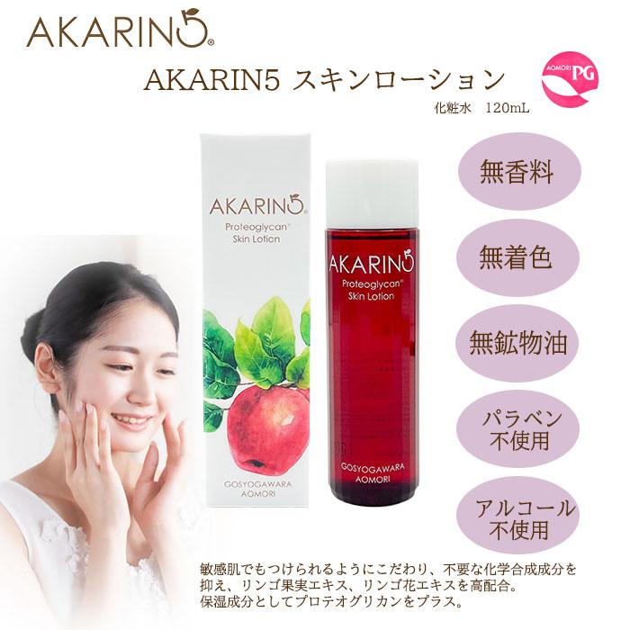 AKARIN5スキンローション・プロテオグリカン・赤いリンゴ